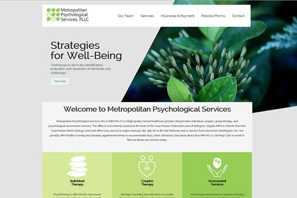 Metropolitan Psychological Services Website
